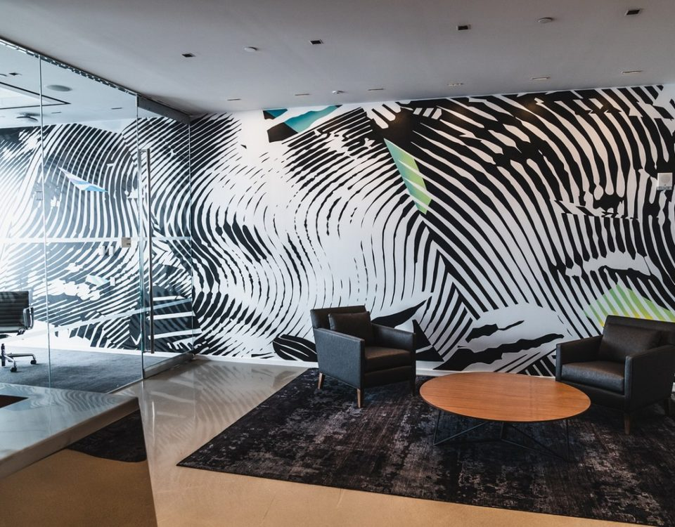WE PAINT MURALS At WALLDEKO we believe Wall Murals are important for three main reasons: They attract customers, express your business's brand and aid in the visualization of Work culture and values for both employees and visitors.