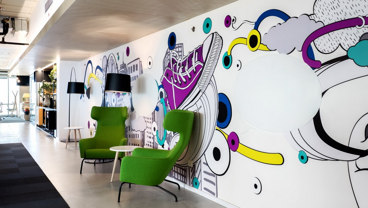 POP ART MURAL AT AN OFFICE