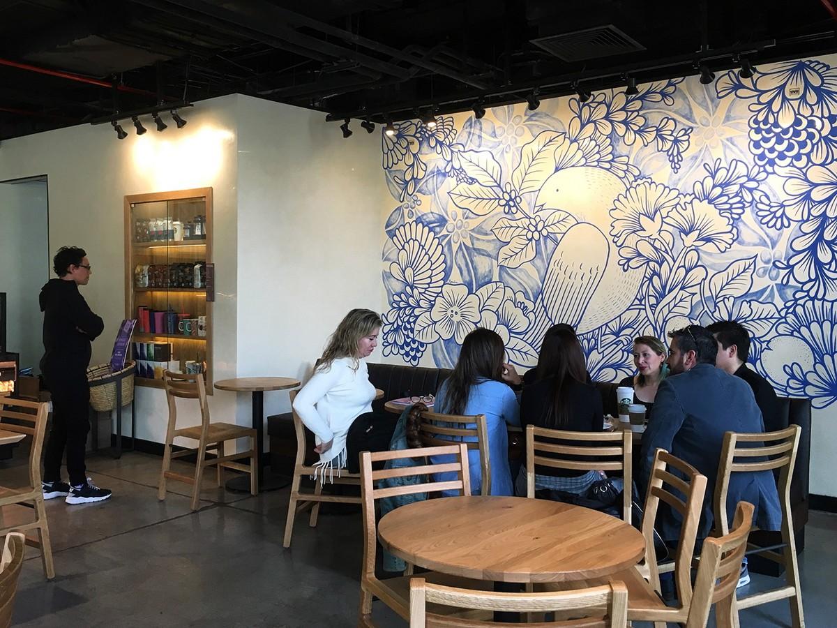 τοιχογραφια σε καφε