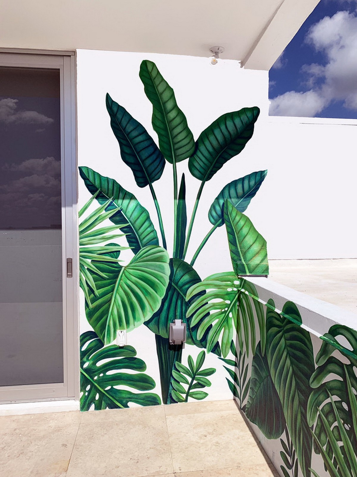 Floral Mural in the Balcony of Penthouse