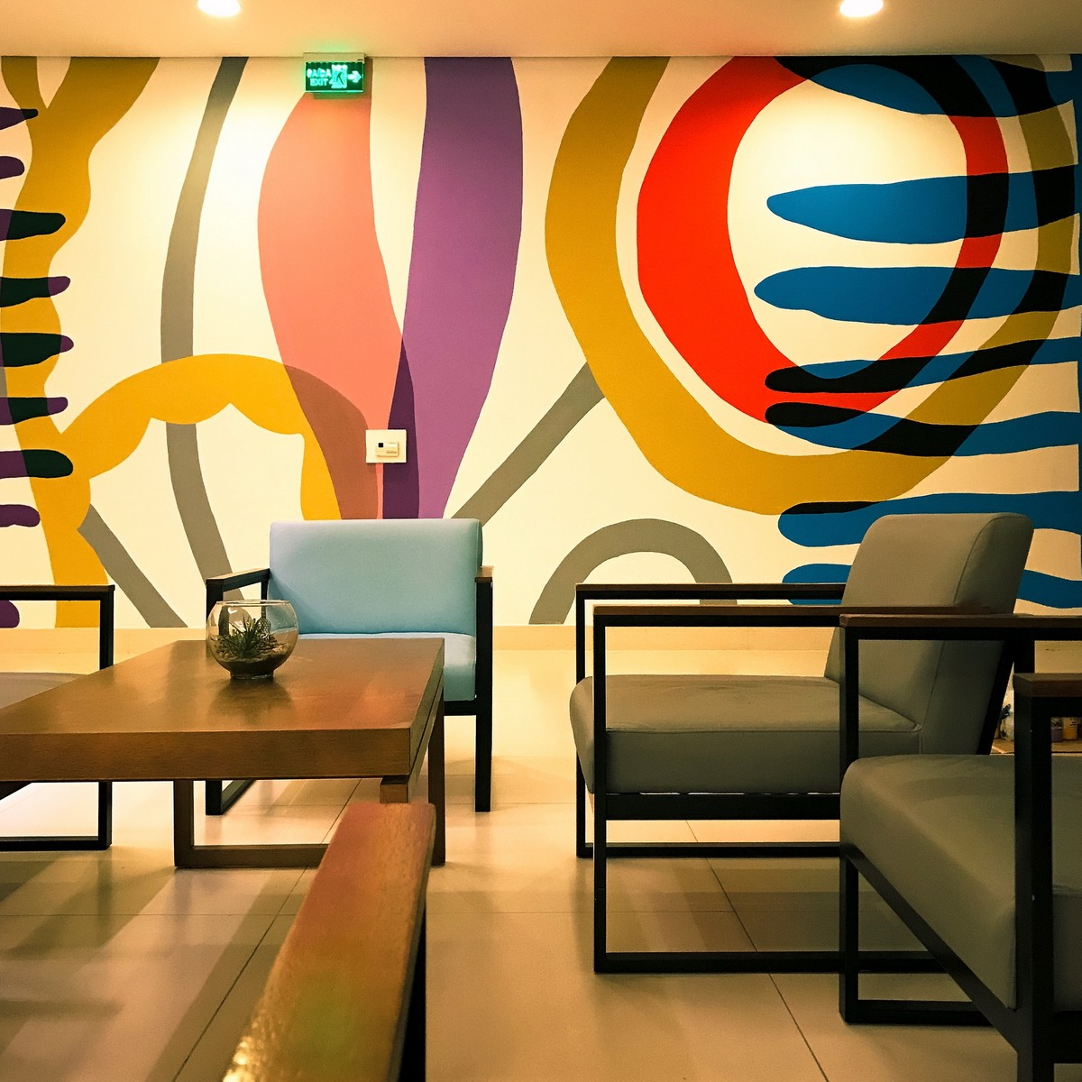 Decorative Mural at the Lobby of Novotel