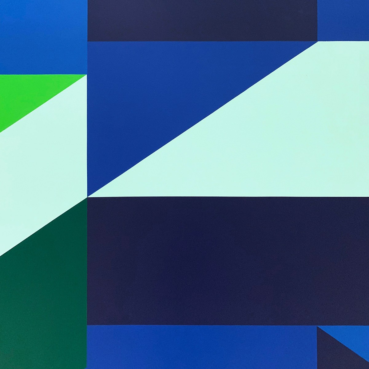 ABSTRACT GEOMETRIC MURAL IN A HOTEL