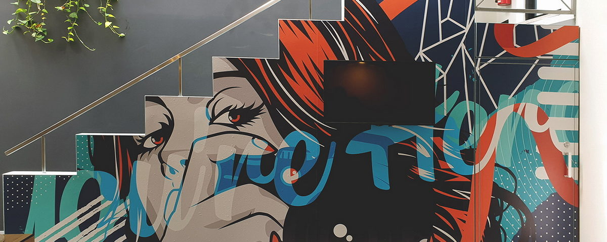 WE PAINT MURALS At WALLDEKO we have completed countless Mural commissions, from local cafes, to large shopping malls. Each of our Murals is unique, original, hand painted and designed to our client's brief. Our team of skilled artists are highly regarded for the quality of their art Works and their professional manner.