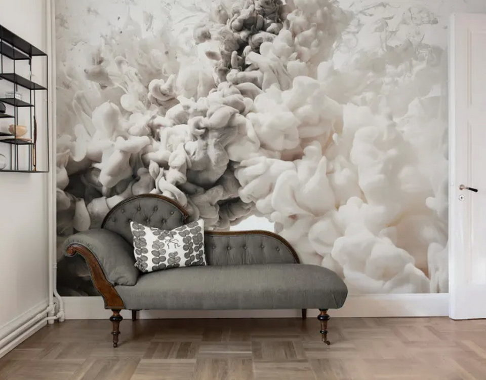 MURAL IN A PENTHOUSE CLOUDS